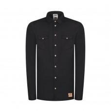 Pánská košile Bleed | Hemp Shacket černá (konopná)